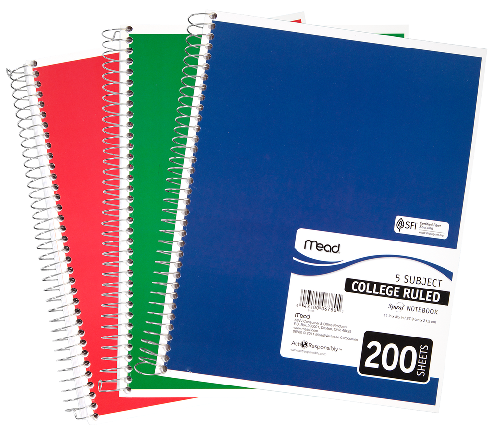 5 Subject Notebook