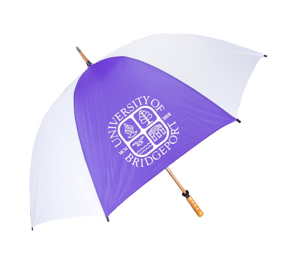 Golf Umbrella - Purple & White