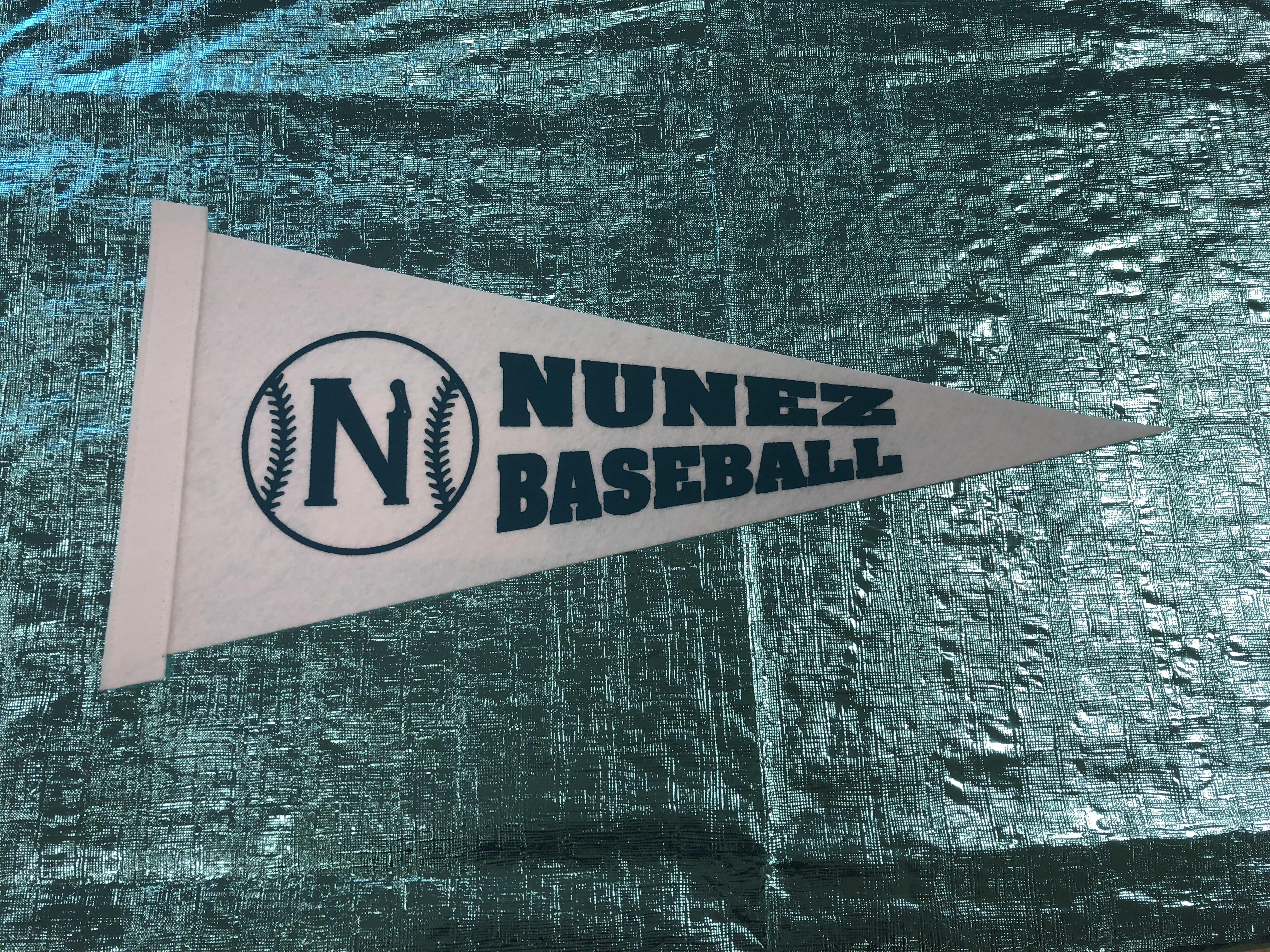 Nunez Baseball Pennant