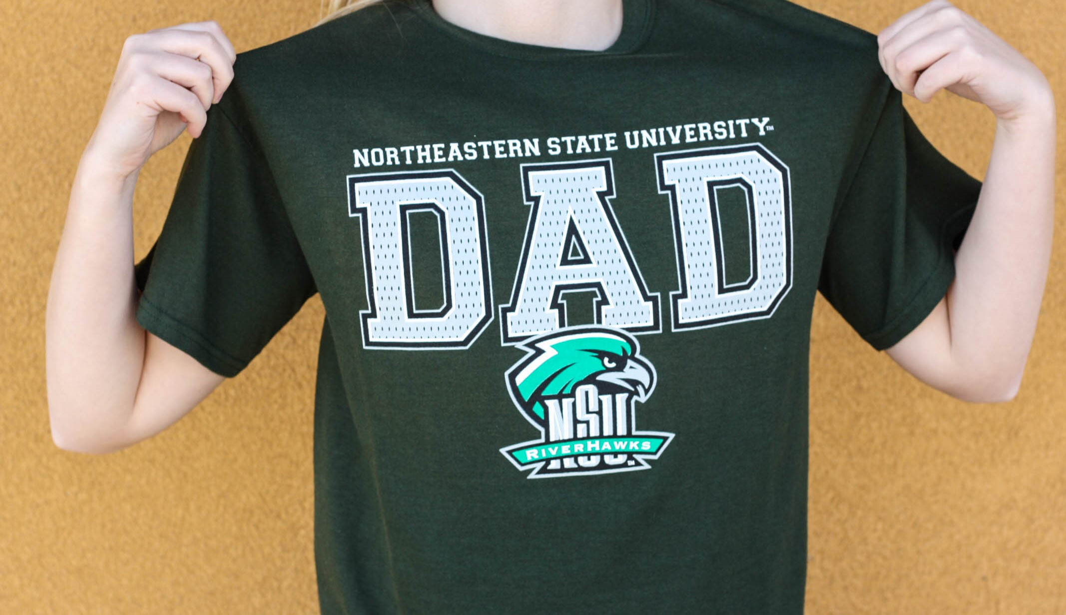 NSU Dad T-shirt Green