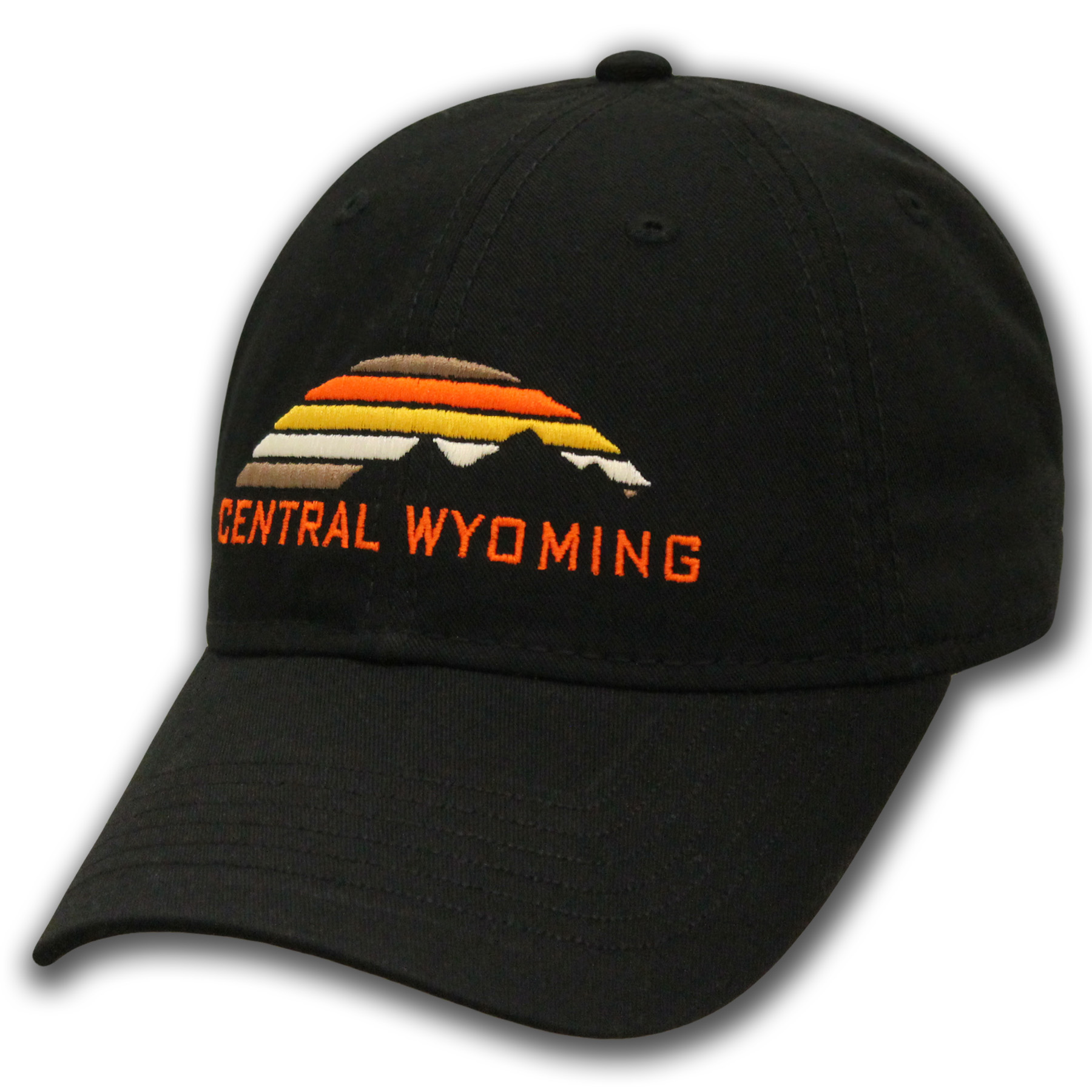 Central Wyoming Mountain Sunset Baseball Cap