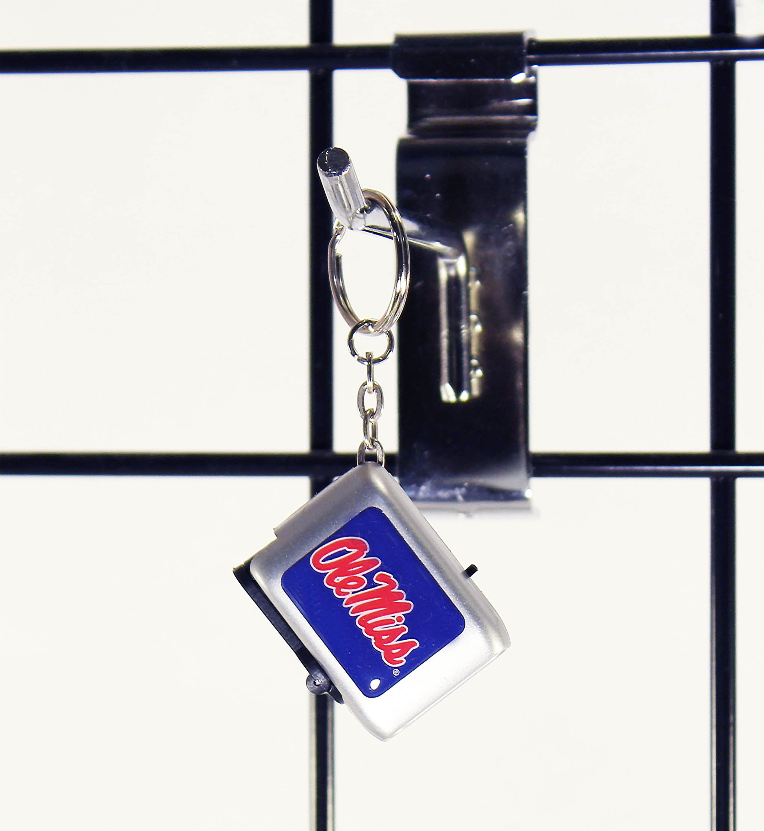 Flashlight Key Ring with Ole Miss Script