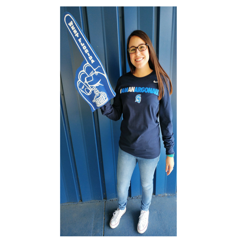 BLUE #1 FOAM FINGER