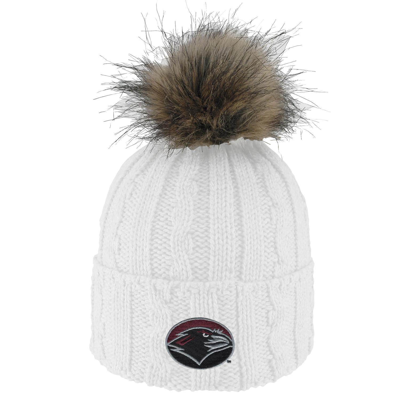 Faux Fur Pom Yarn Hat