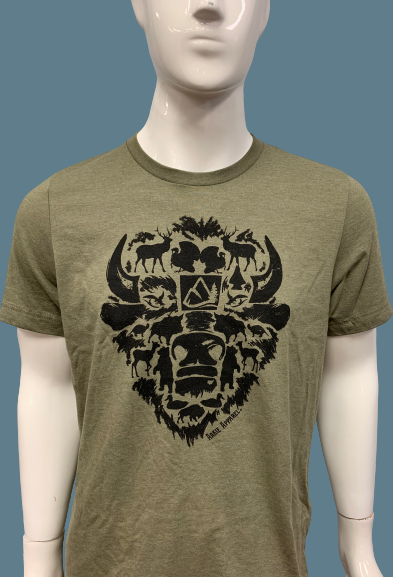 Arkie Apparel Buffalo Head T-Shirt