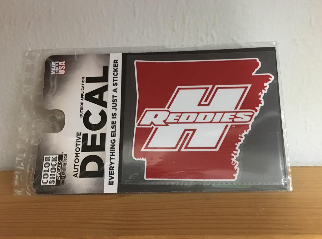 Arkansas with Reddies Logo Decal