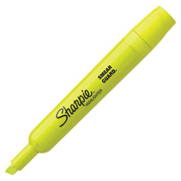 Sharpie Hi-liter with Smear Guard