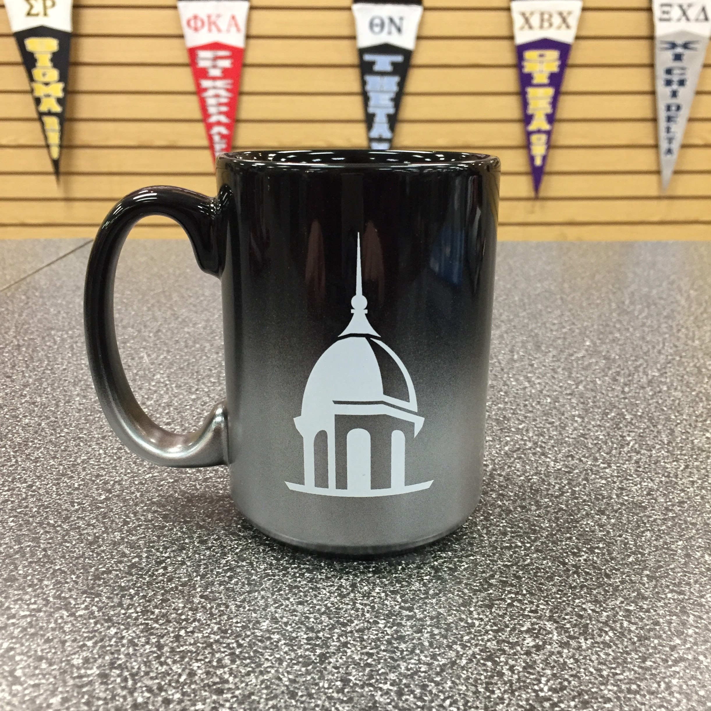 Black Metallic Belltower Mug