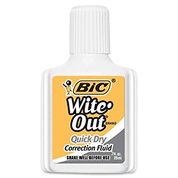 White Out Correction Fluid