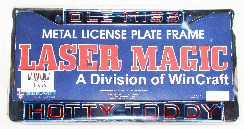 Hotty Toddy Plate Frame Powder Blue