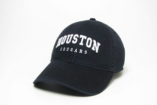 Black Arched Houston Cougars Relaxed Twill Hat