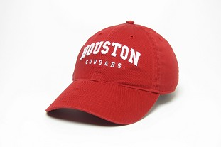 Red Arched Houston Cougars Hat