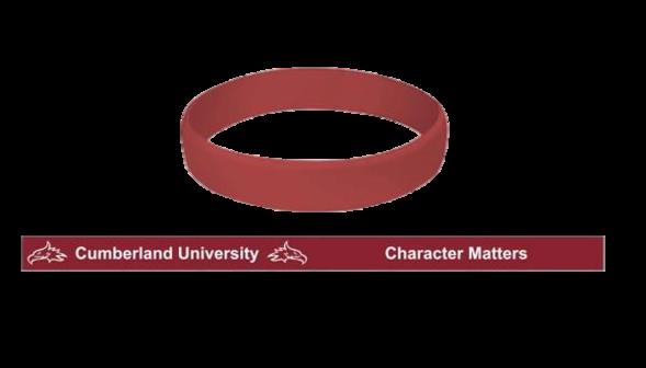 Cumberland University Character Matters Silicone Wristband