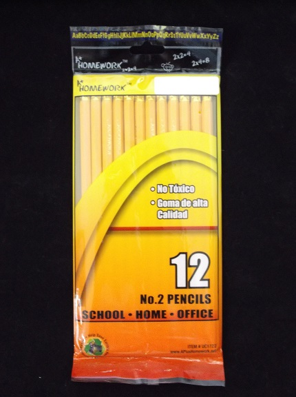 12 Pack #2 Pencils