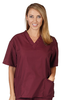 Nursing Burgundy Scrub Tops