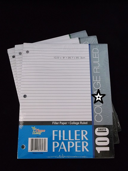 College Ruled Filler Paper 100ct