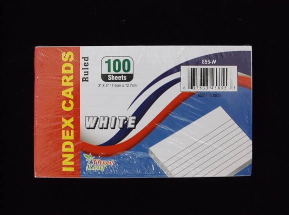 Ruled 3x5 Index Cards 100ct