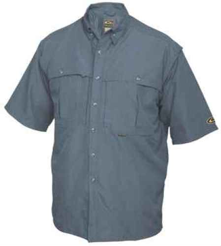 Drake Waterfowl Casual Steel Blue Short Sleeve Shirt