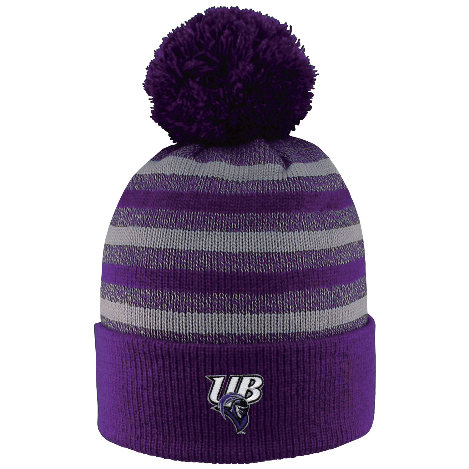 UB Striped PomPom Hat