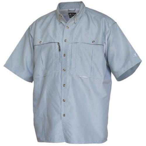Drake Waterfowl Casual Powder Blue Short Sleeve Shirt