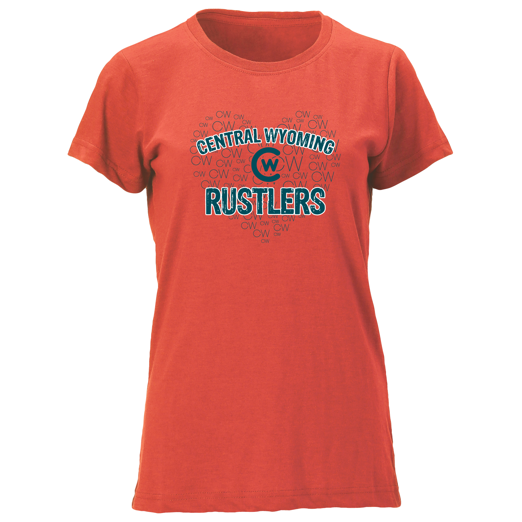 CW Heart Central Wyoming Rustlers T-Shirt