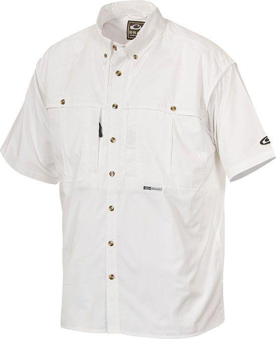Drake Waterfowl Casual Powder White Short Sleeve Shirt