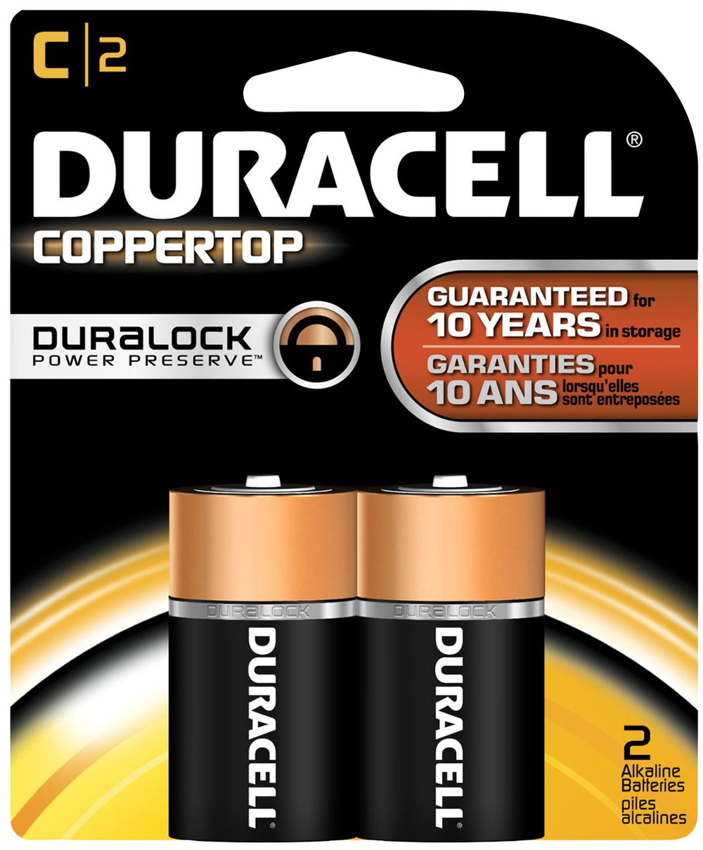 Duracell CopperTop Alkaline Batteries - C 2Pk BP