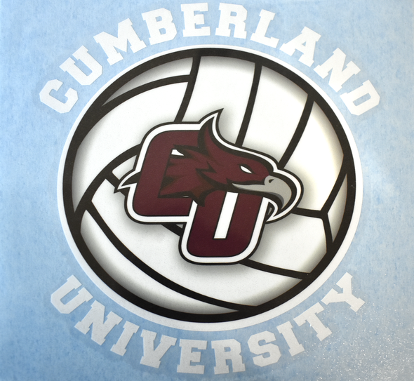 Cumberland University Volleyball Decal