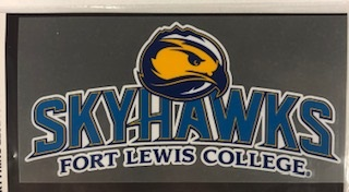 Fort Lewis Skyhawks with Mascot Decal