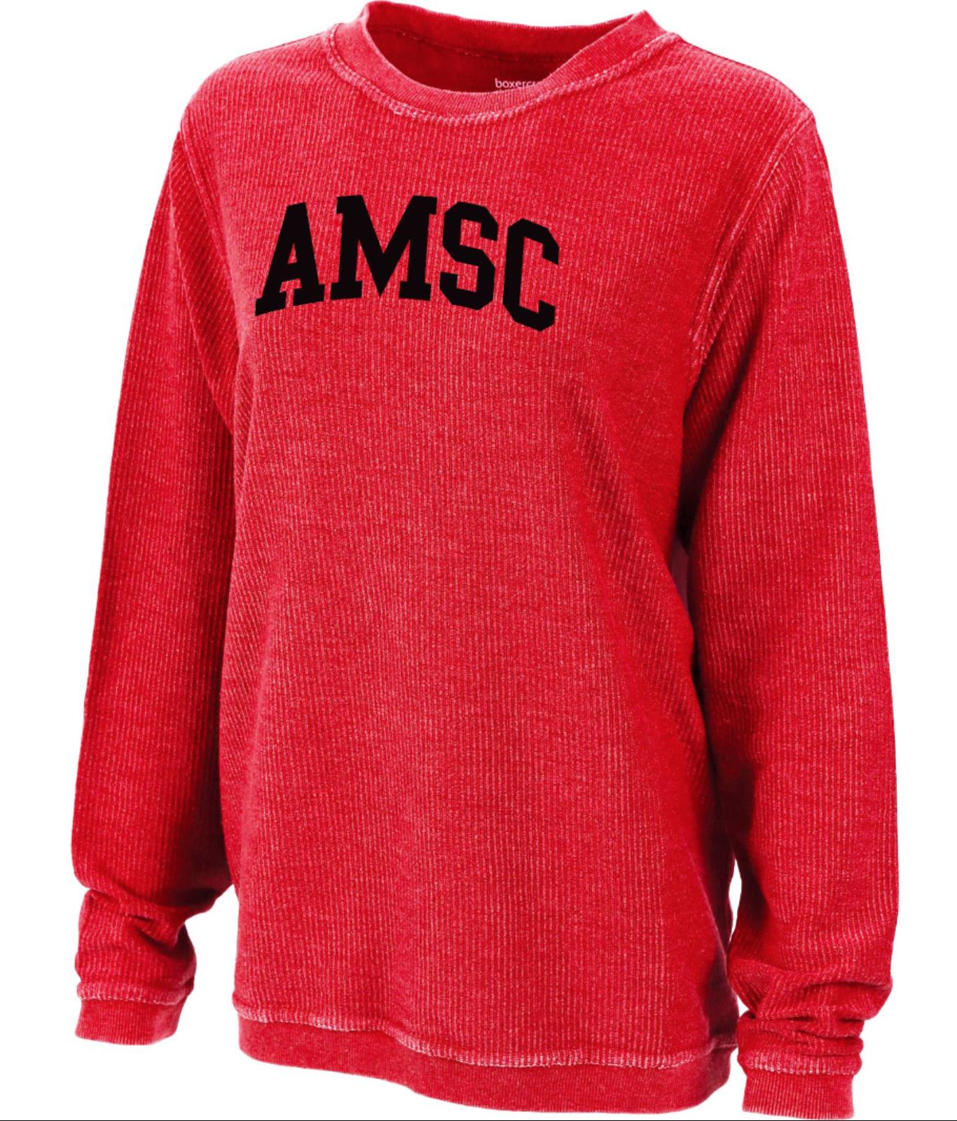 AMSC Women's Corduroy Crewneck Sweatshirt