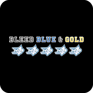 Blue and Gold decal