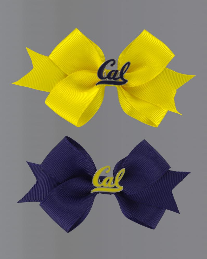 University of California Berkeley Cal Small Ribbon Bow with Alligator Clip