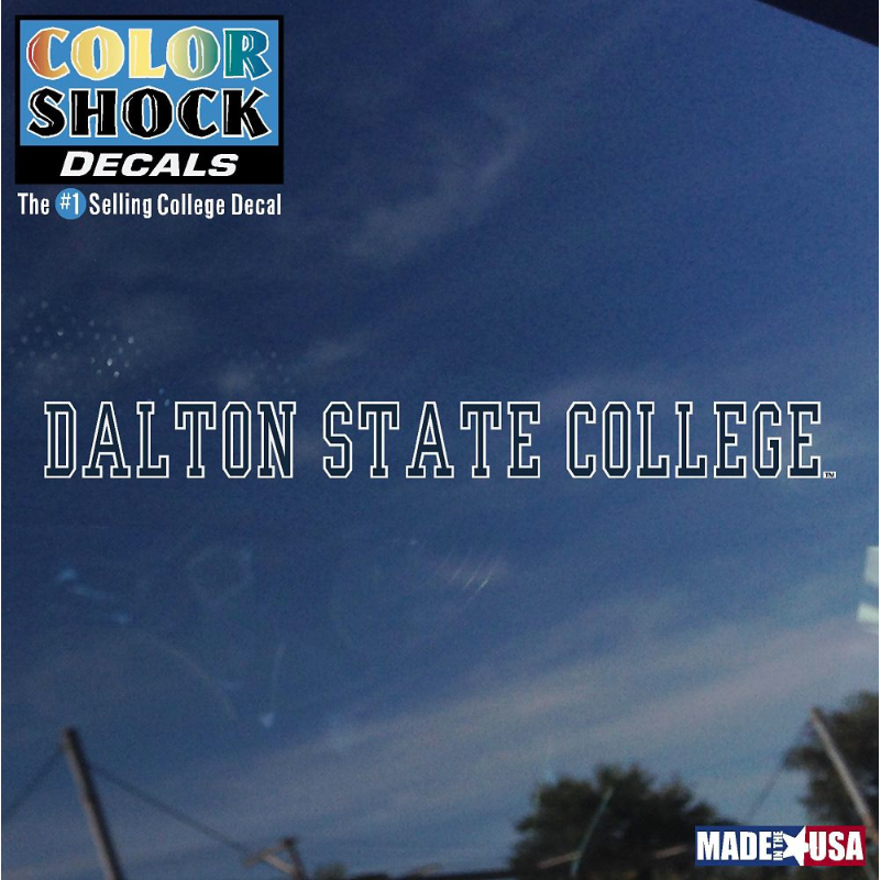 Dalton State College Long Decal