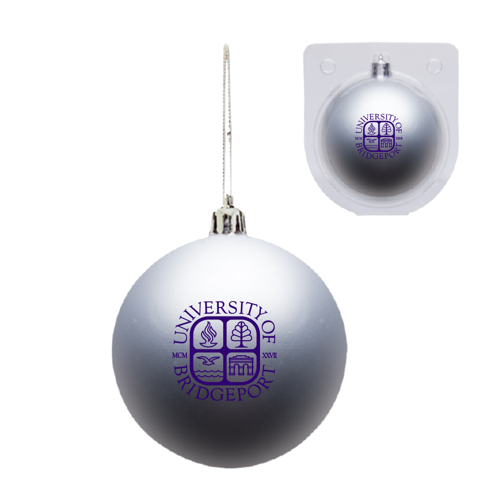 Shatter Proof Silver Ornament