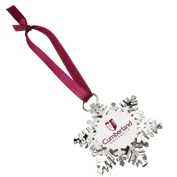Cumberland University Metal Snowflake Ornament