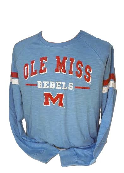 Faded Long Sleeve Ole Miss Tee