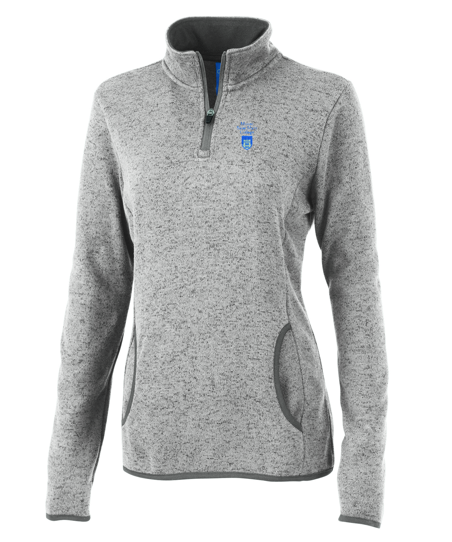 Heathered Quarter Zip - Grey