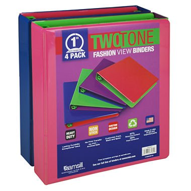 Samsill Two Tone Fashion View Binders