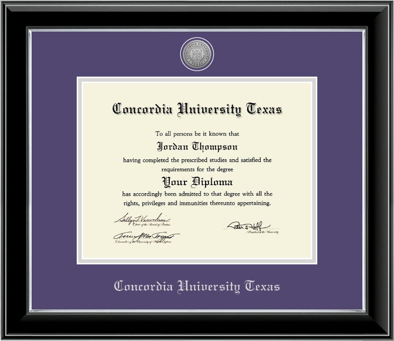 ONYX Silver Engraved Medallion Diploma Frame