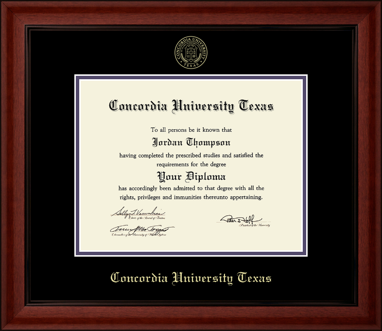 CAMBRIDGE Gold Embossed Diploma Frame, Black Trim