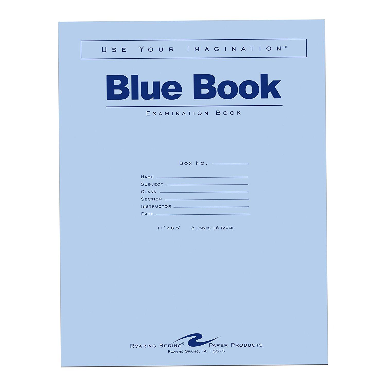 """Blue Book 8.5""""x11"""""""