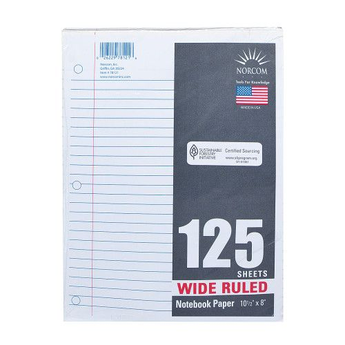 Loose Leaf Paper Wide Ruled
