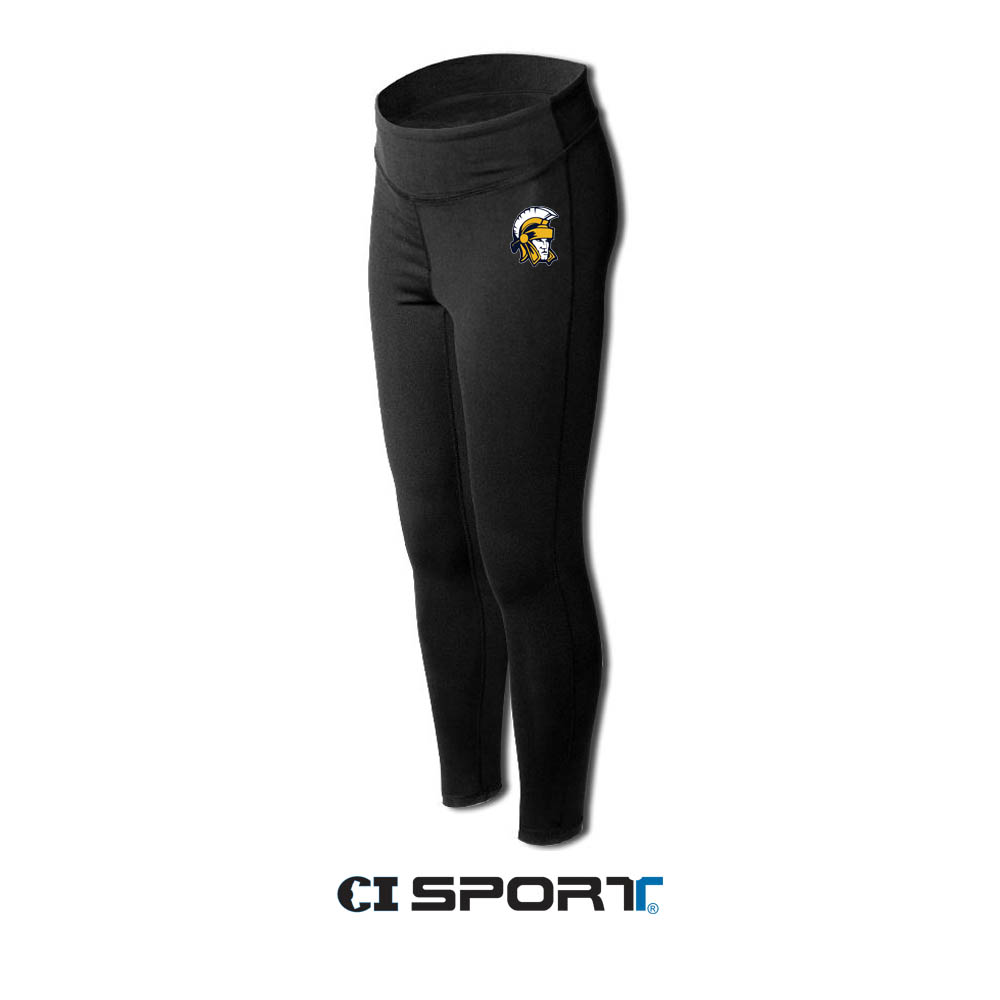 Ladies Leggings Left Thigh Trojan