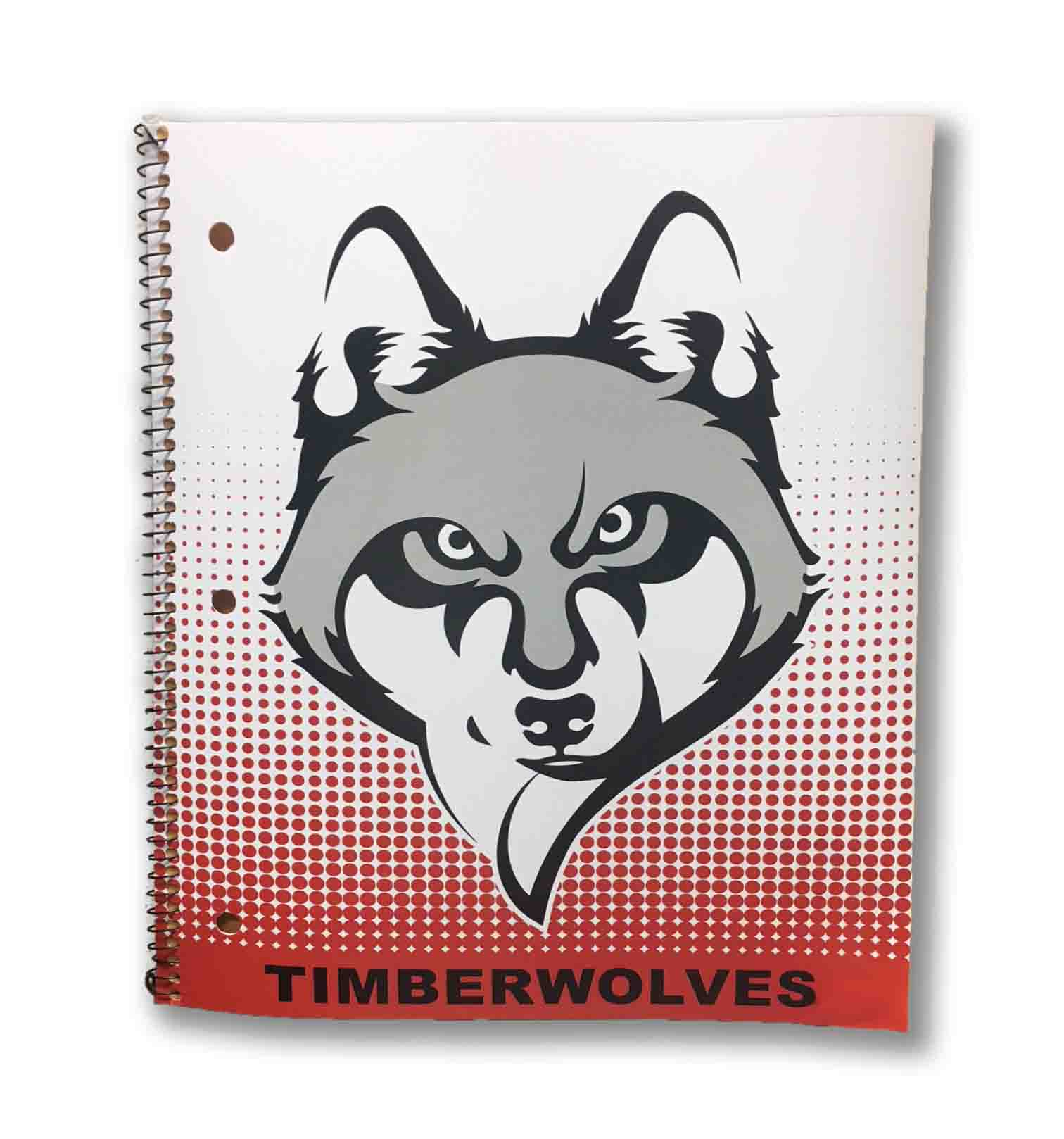 UACCM Timberwolves 1 Subject Notebook