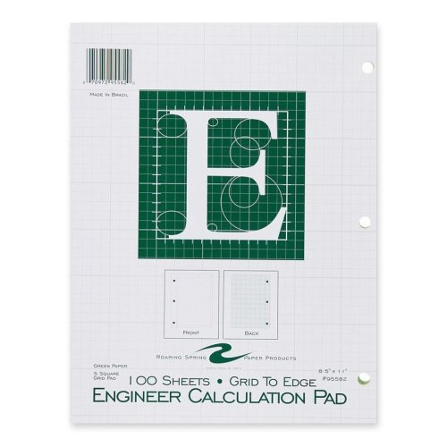 100 Sheet Engineer Calculation Pad