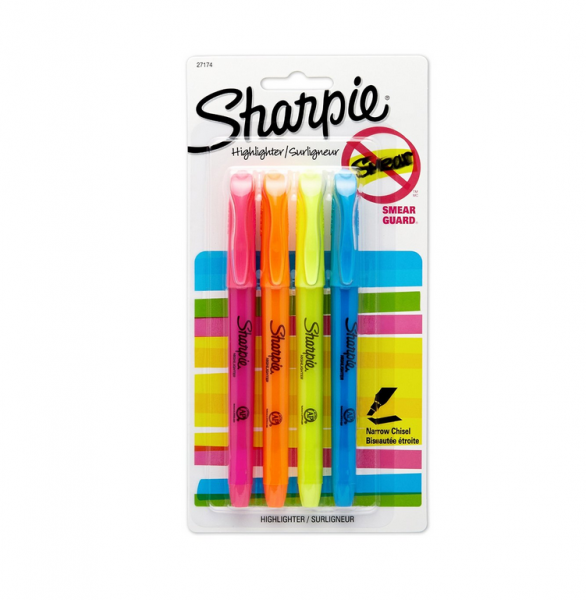 4pk Sharpie Highlighters
