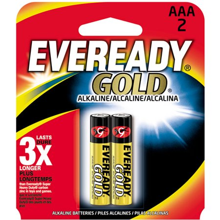 Eveready Gold AAA Alkaline Two Pack Batteries