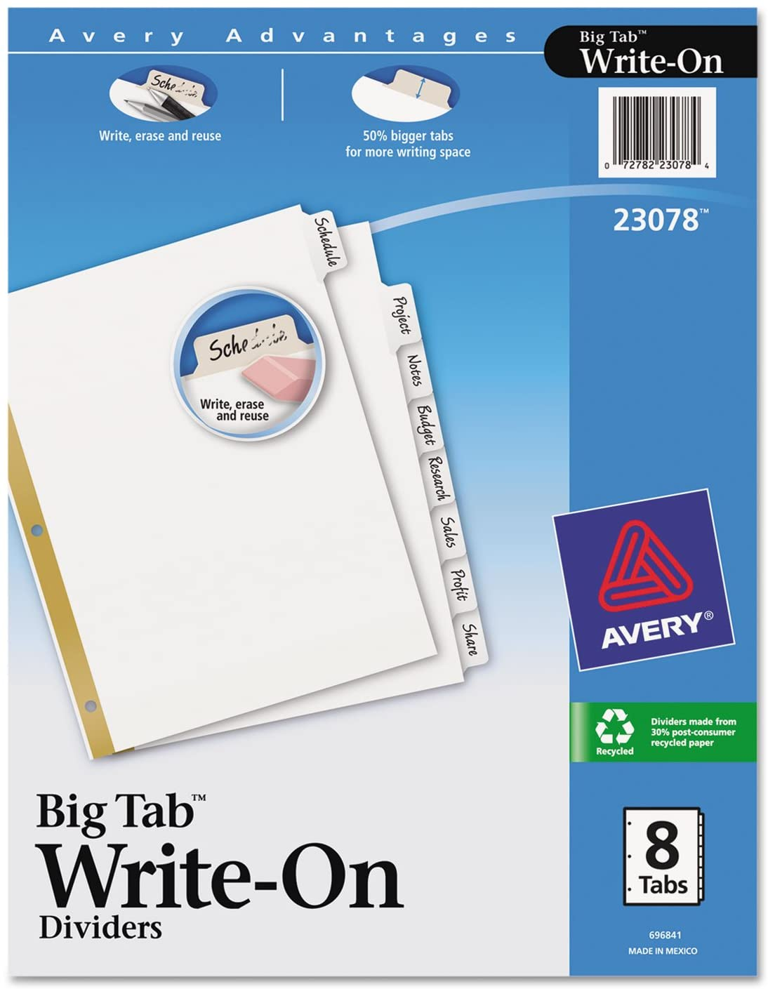 Big Tab Write-On Dividers