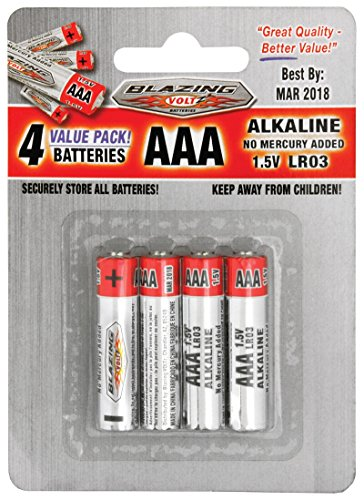 Blazing Volt Four Pack 1.5V AAA Batteries