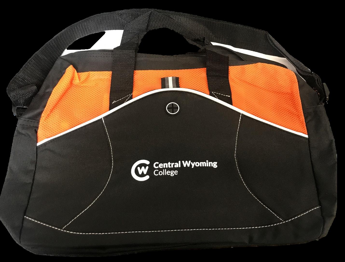 Black and Orange Laptop Bag